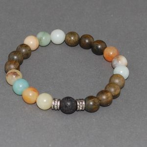 Sandalwood Amazonite Bracelet